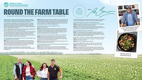 Round the farm table - The Oakleys