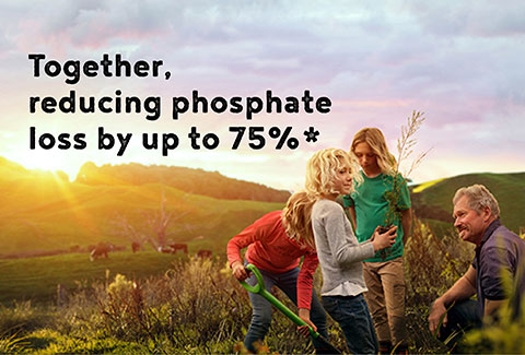 Together,  reducing phosphate loss by up to 75%*